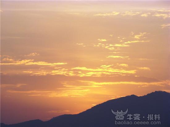[组图]日落西山满天红!