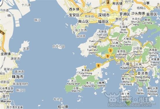 它由内伶仃岛和福田红树林两个区域组成