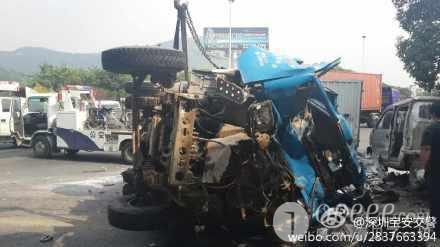 107国道机场立交往发生九车追尾的事故图片 20070 440x247