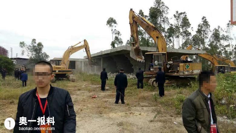广东陆丰市内湖镇同墓林场被非法拆毁损失惨重